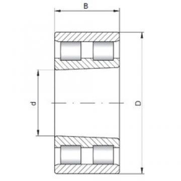 ISO NN3140 K cylindrical roller bearings