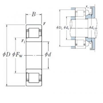 NSK NJ2304 ET cylindrical roller bearings