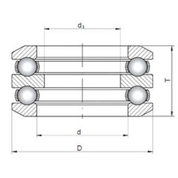 ISO 54413 thrust ball bearings
