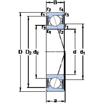 SKF S71908 ACE/HCP4A angular contact ball bearings