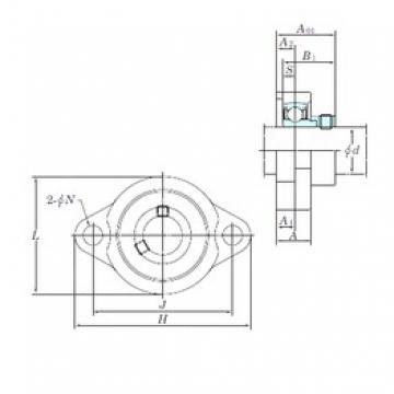 KOYO ALF205 bearing units