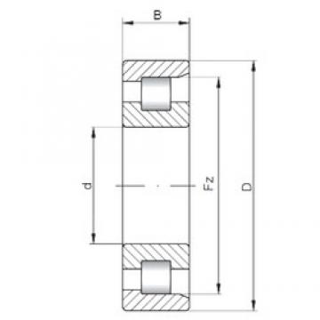 ISO NF2222 cylindrical roller bearings