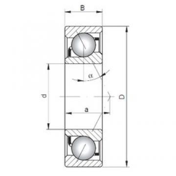 ISO 7016 A angular contact ball bearings