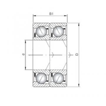 ISO 7306 BDT angular contact ball bearings