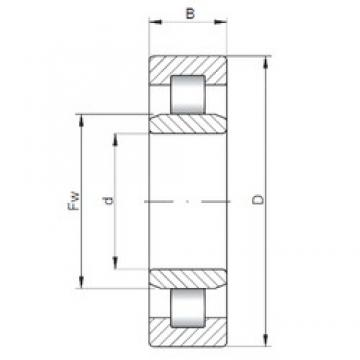ISO NU324 cylindrical roller bearings