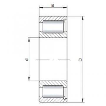 ISO NCF2210 V cylindrical roller bearings