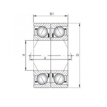 ISO 7309 BDB angular contact ball bearings
