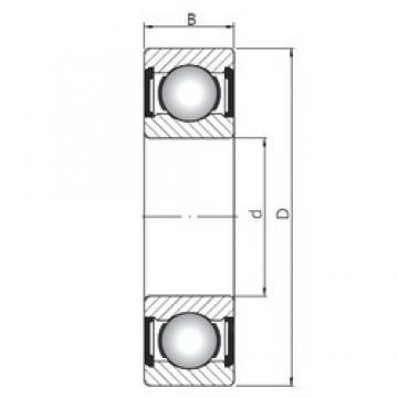 ISO 6220 ZZ deep groove ball bearings