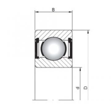 ISO 618/9 ZZ deep groove ball bearings