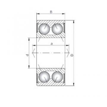 ISO 3218-2RS angular contact ball bearings