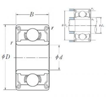 ISO R168B-2RS deep groove ball bearings