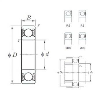 KOYO 6916-2RS deep groove ball bearings