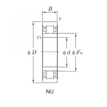 KOYO NU2212 cylindrical roller bearings