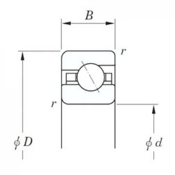 KOYO KAA055 angular contact ball bearings