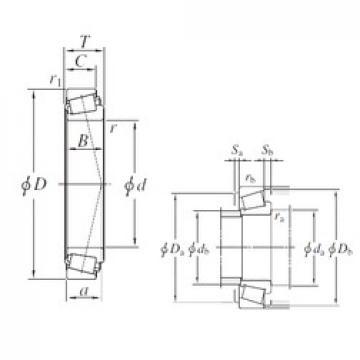 KOYO LL648449/LL648416 tapered roller bearings