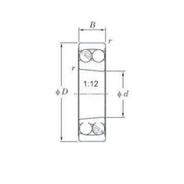 KOYO 1211K self aligning ball bearings