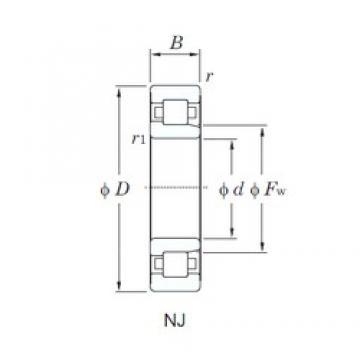 KOYO NJ2224R cylindrical roller bearings