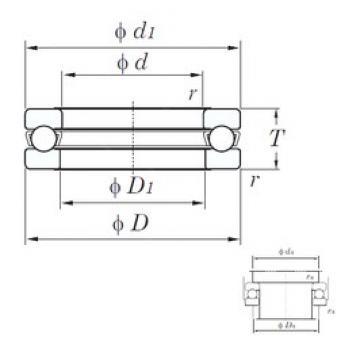 KOYO 51144 thrust ball bearings