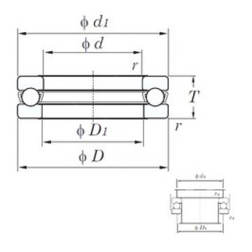 KOYO 51311 thrust ball bearings