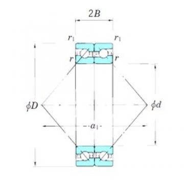 KOYO ACT010BDB angular contact ball bearings