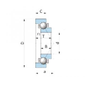 NSK BA180-4BWSA angular contact ball bearings