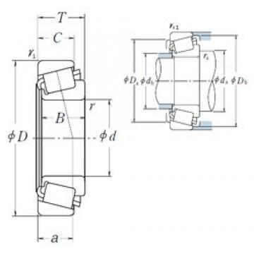 NSK 26131/26283 tapered roller bearings