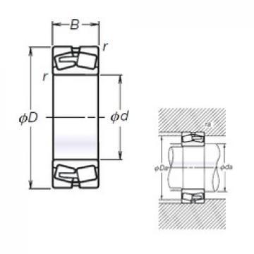 NSK TL22240CAE4 spherical roller bearings