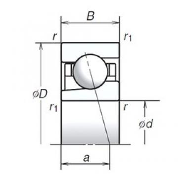 NSK 15BGR02X angular contact ball bearings