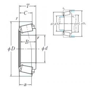 NSK EE420701/421437 cylindrical roller bearings