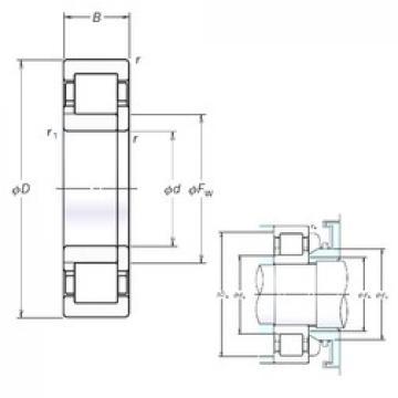 NSK NUP319EM cylindrical roller bearings