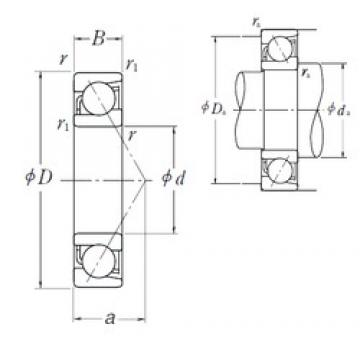 NSK 7332 B angular contact ball bearings