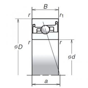 NSK 40BER20SV1V angular contact ball bearings