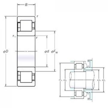 NSK NJ2338EM cylindrical roller bearings