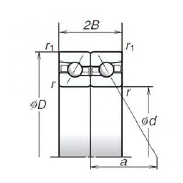 NSK 75BAR10S angular contact ball bearings