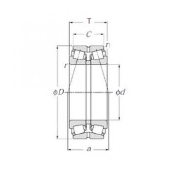 NTN 432220XU tapered roller bearings