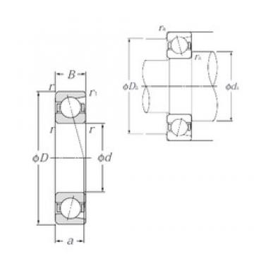 NTN 7236 angular contact ball bearings