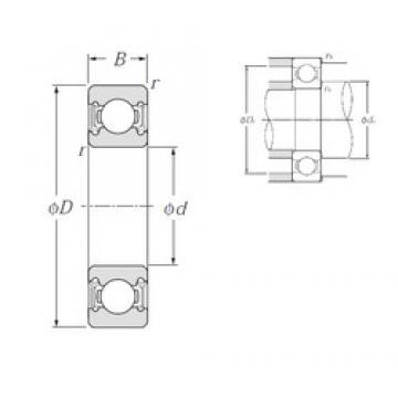 NTN 6815LLU deep groove ball bearings